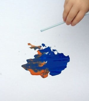 Paint Mixing with Straws!